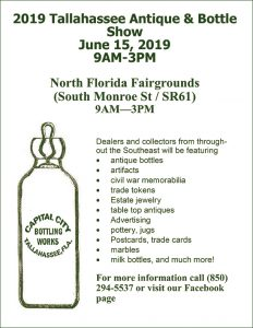 The Tallahassee Antique and Bottle Show @ North Florida Fairgrounds