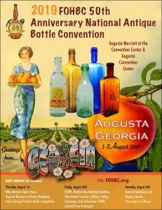2019 FOHBC 50th Anniversary National Antique Bottle Convention & Expo @ Augusta Marriott at the Convention Center and Augusta Convention Center