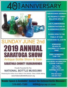 40th Annual National Bottle Museum's Annual Saratoga Springs Show & Sale @ Saratoga County Fairgrounds