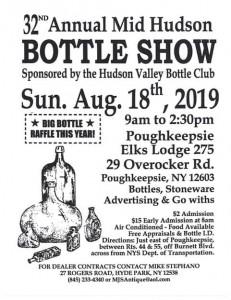 Hudson Valley Bottle Club 32nd Annual Mid Hudson Bottle Show & Sale @ Poughkeepsie Elks Lodge 275