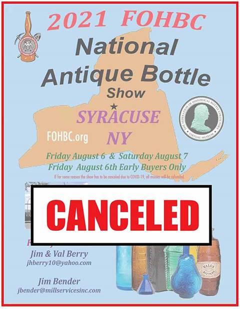 2021 FOHBC National Antique Bottle Show
